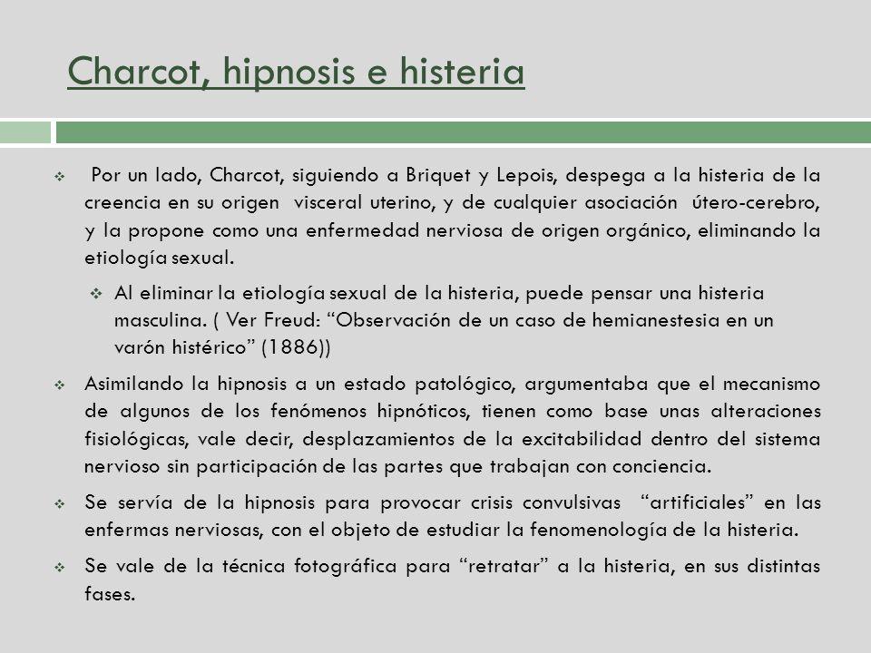 Charcot, hipnosis e histeria