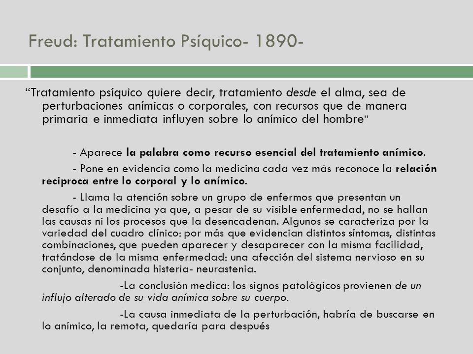 Freud: Tratamiento Psíquico- 1890-