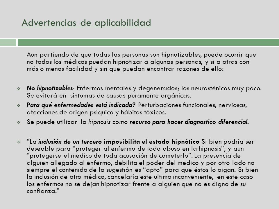 Advertencias de aplicabilidad