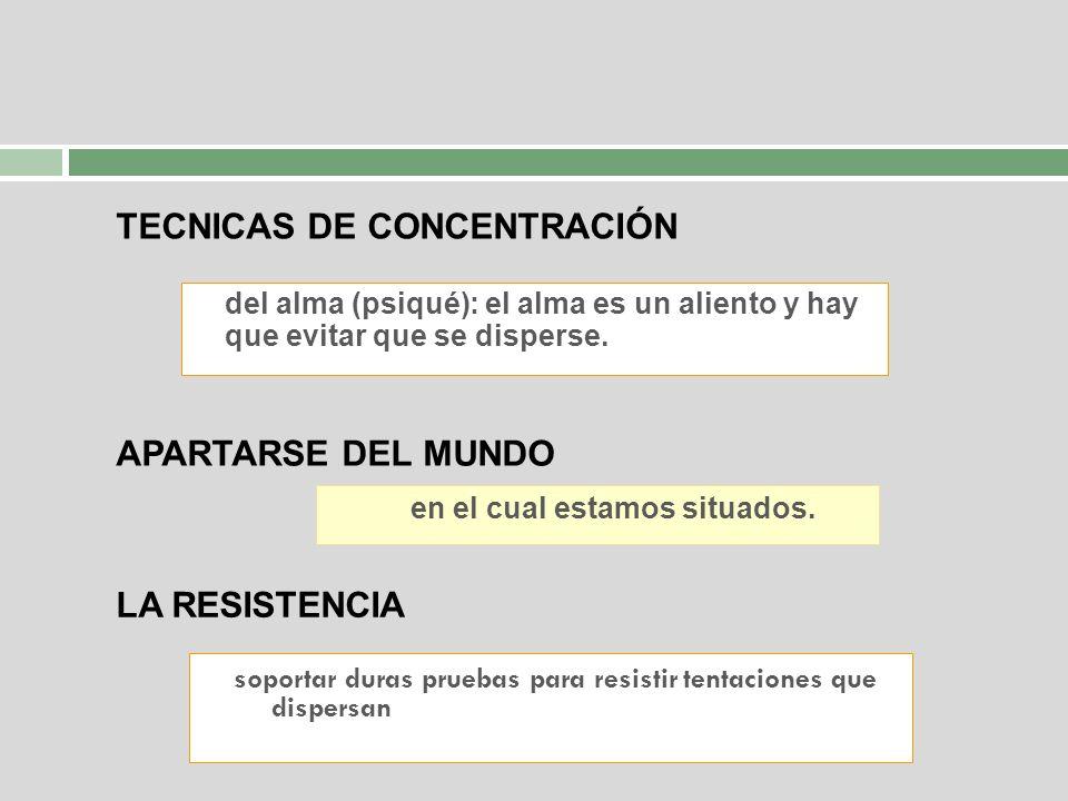TECNICAS DE CONCENTRACIÓN