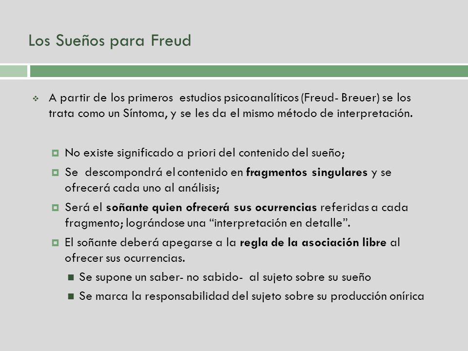 Los Sueños para Freud