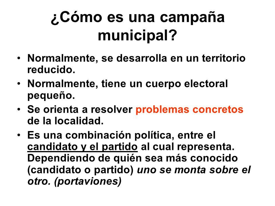 ¿Cómo es una campaña municipal