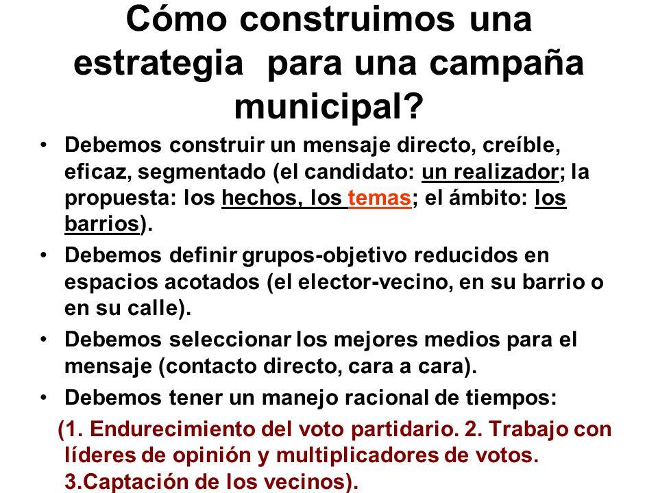 Cómo construimos una estrategia para una campaña municipal