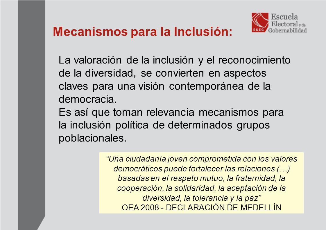 Mecanismos para la Inclusión: