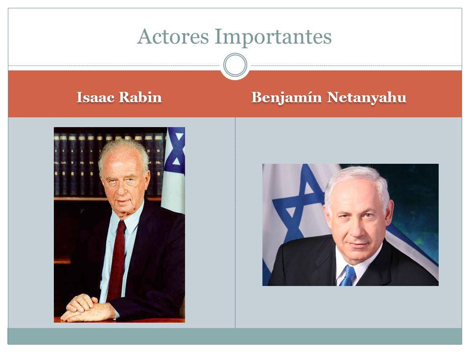 Actores Importantes Isaac Rabin Benjamín Netanyahu