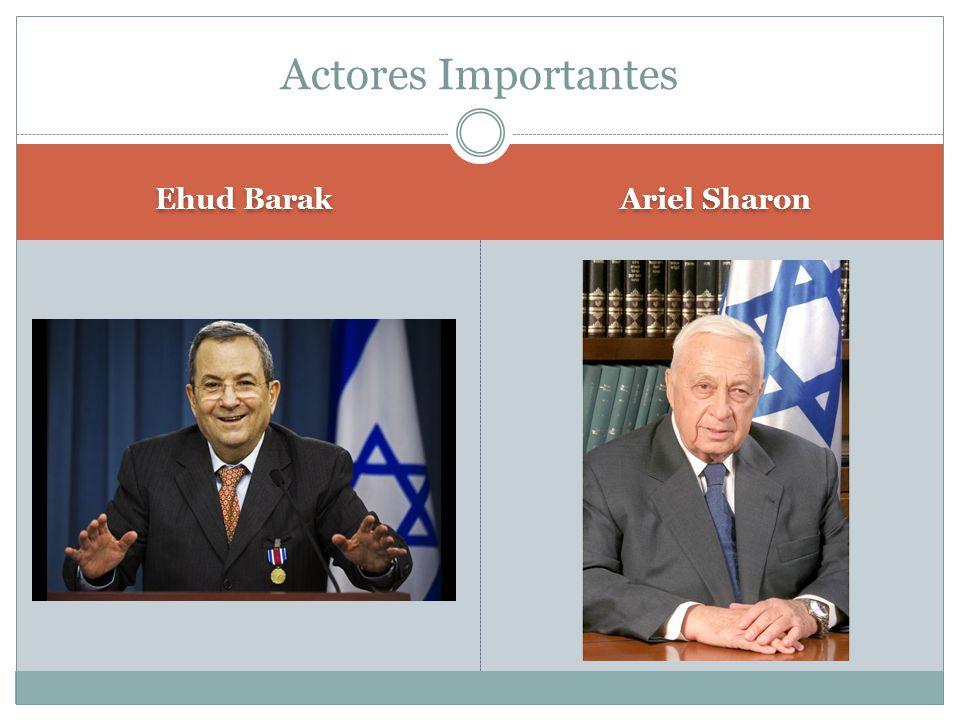 Actores Importantes Ehud Barak Ariel Sharon