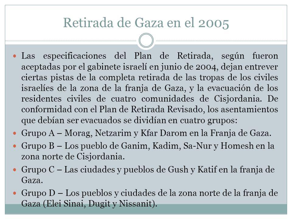 Retirada de Gaza en el 2005