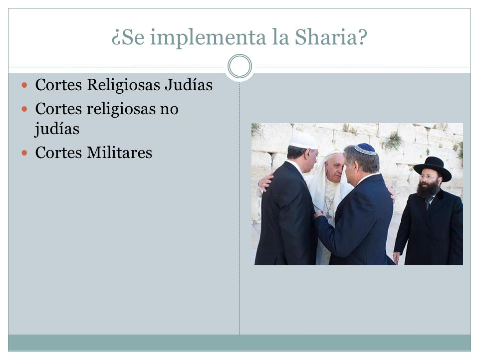 ¿Se implementa la Sharia
