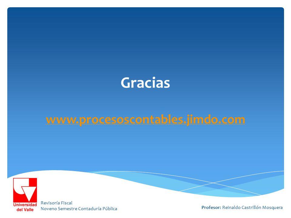 Gracias www.procesoscontables.jimdo.com
