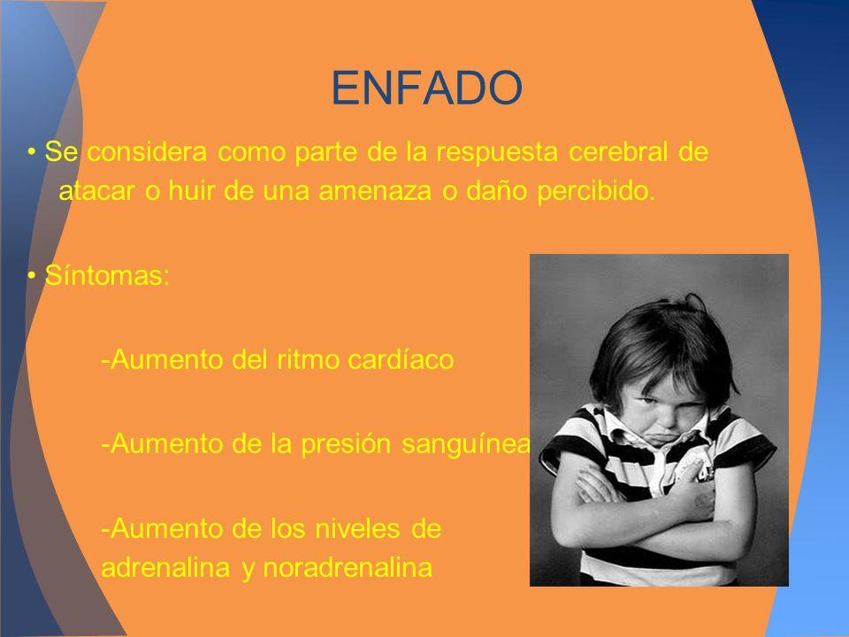 ENFADO• Se considera como parte de la respuesta cerebral de atacar o huir de una amenaza o daño percibido.