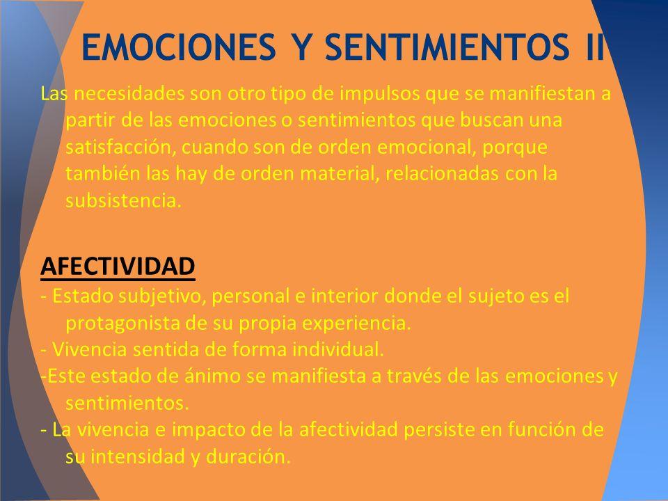EMOCIONES Y SENTIMIENTOS II