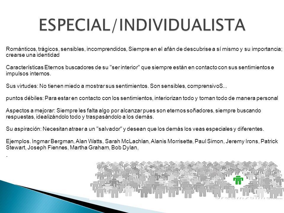 ESPECIAL/INDIVIDUALISTA