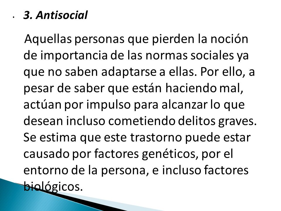 3. Antisocial