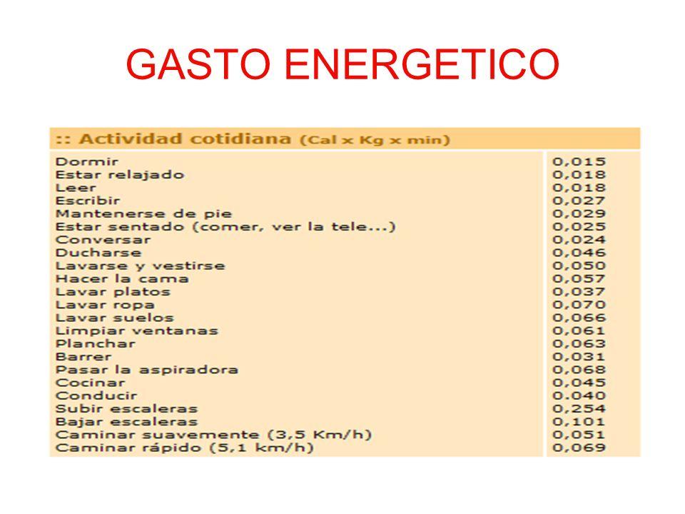 GASTO ENERGETICO