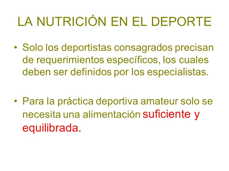 LA NUTRICIÓN EN EL DEPORTE
