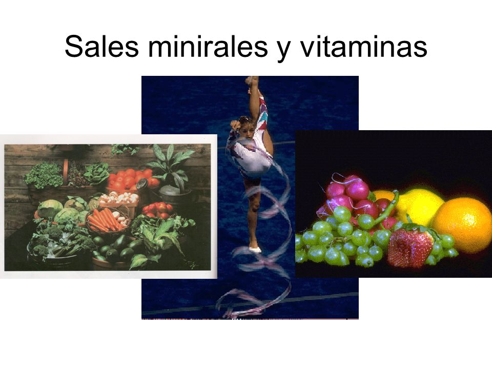 Sales minirales y vitaminas