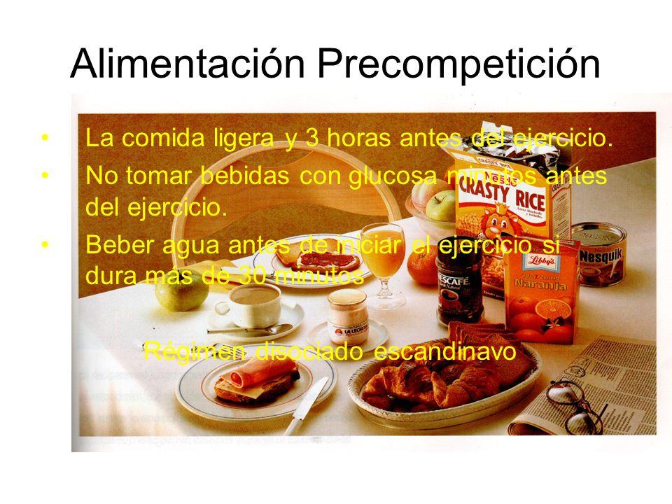 Alimentación Precompetición