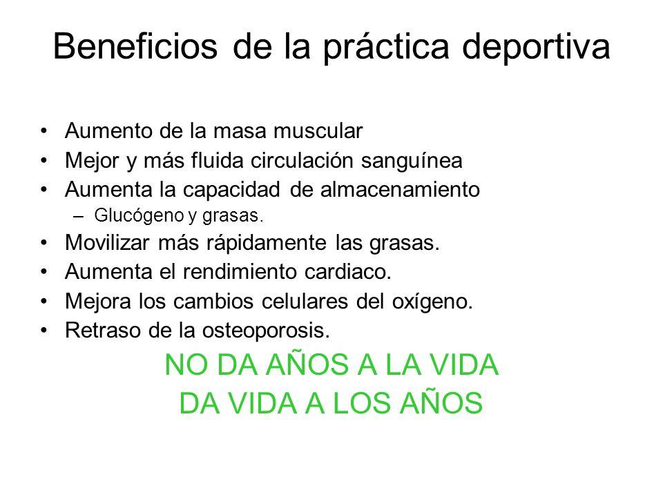 Beneficios de la práctica deportiva