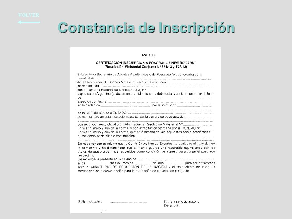 Constancia de Inscripción
