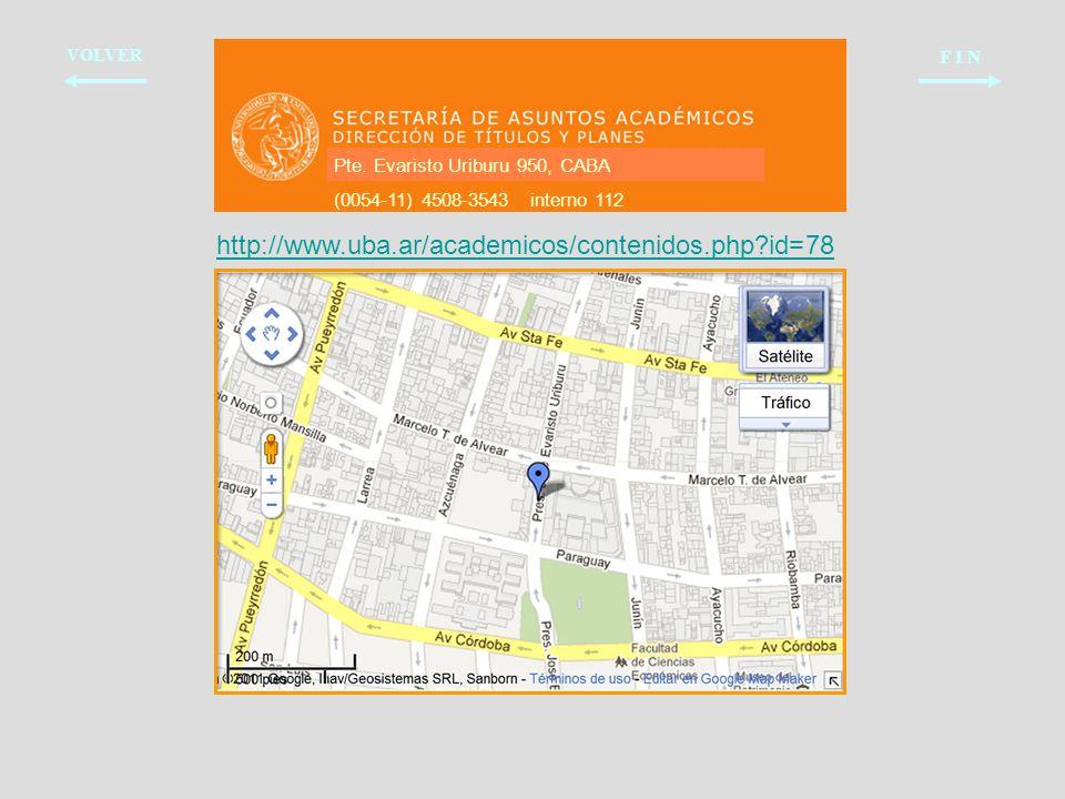 http://www.uba.ar/academicos/contenidos.php id=78 F I N