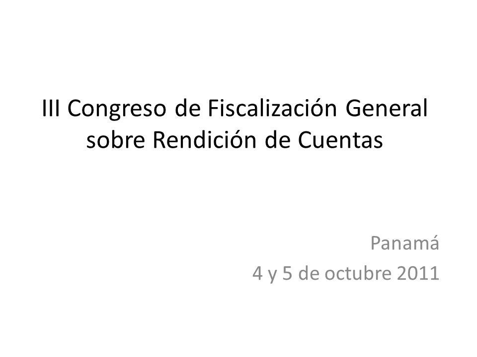 III Congreso de Fiscalización General sobre Rendición de Cuentas