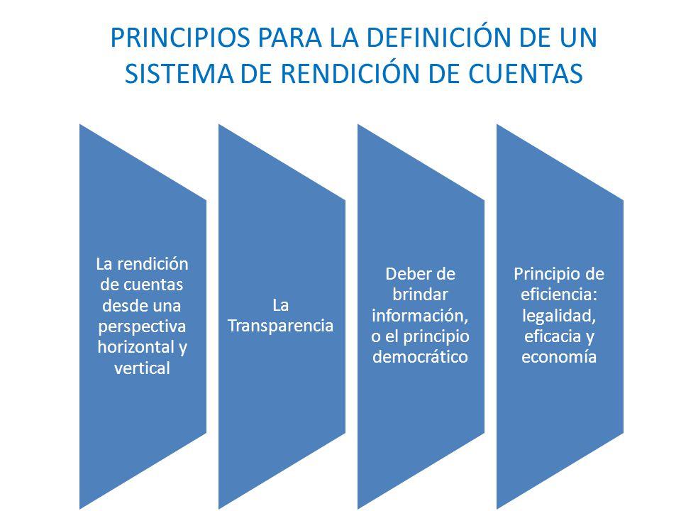 principios para la definición de un sistema de rendición de cuentas
