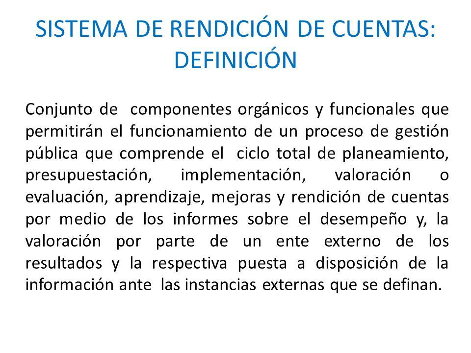 SISTEMA DE RENDICIÓN DE CUENTAS: DEFINICIÓN