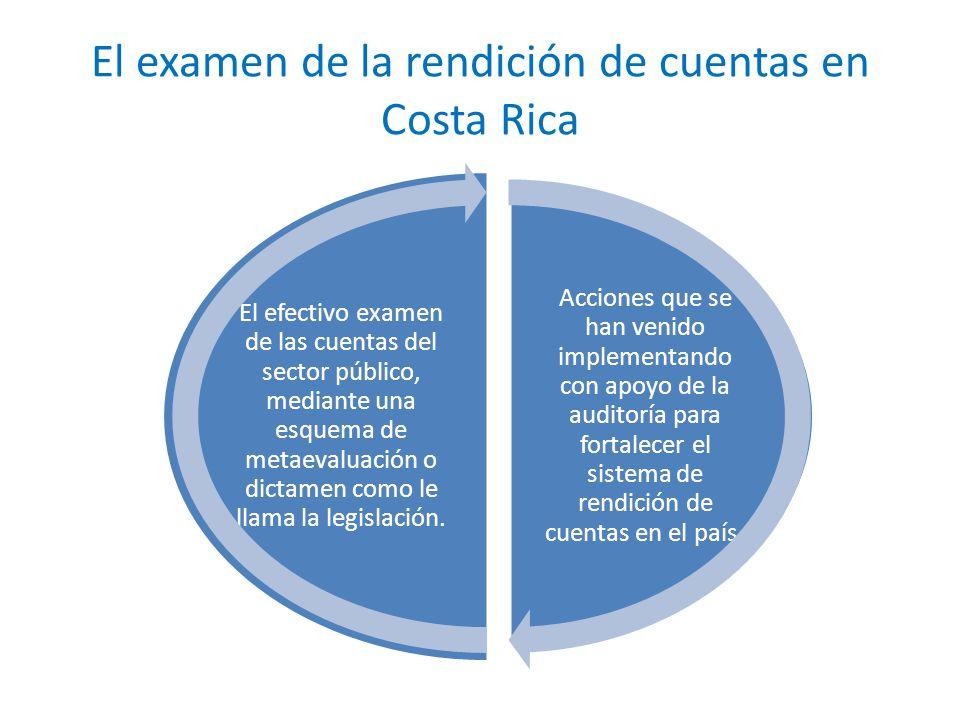 El examen de la rendición de cuentas en Costa Rica