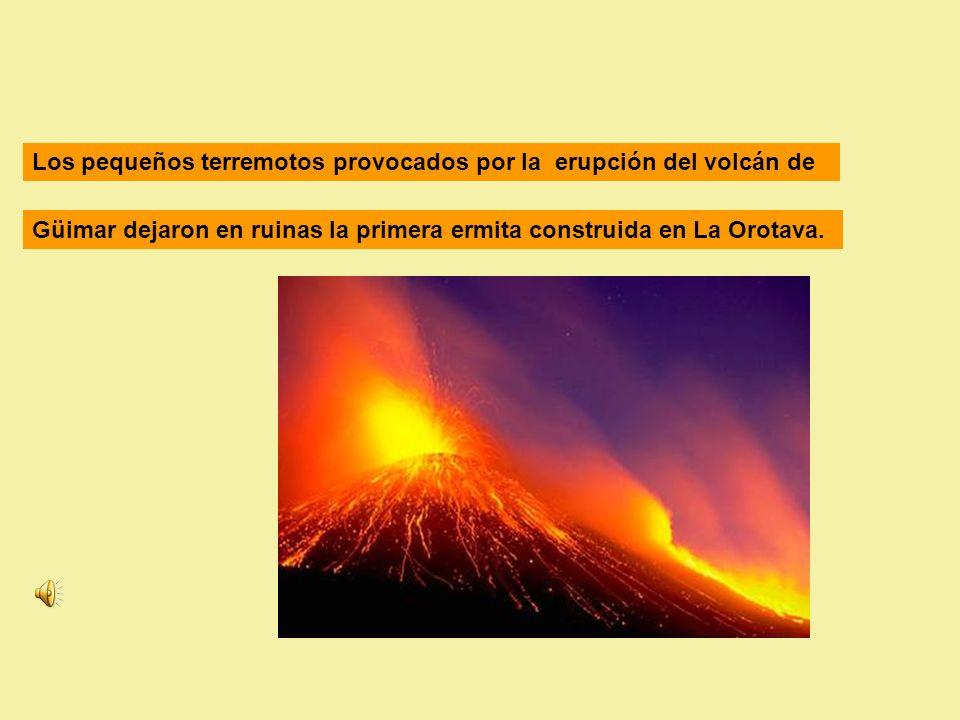 Los pequeños terremotos provocados por la erupción del volcán de