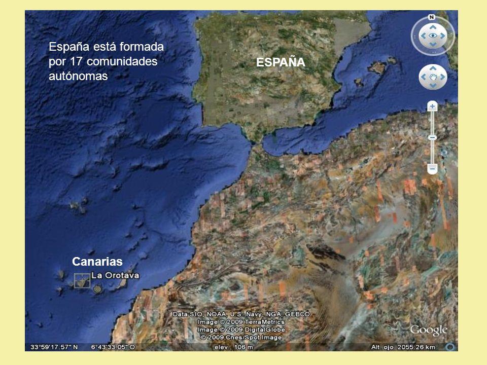 España está formada por 17 comunidades autónomas