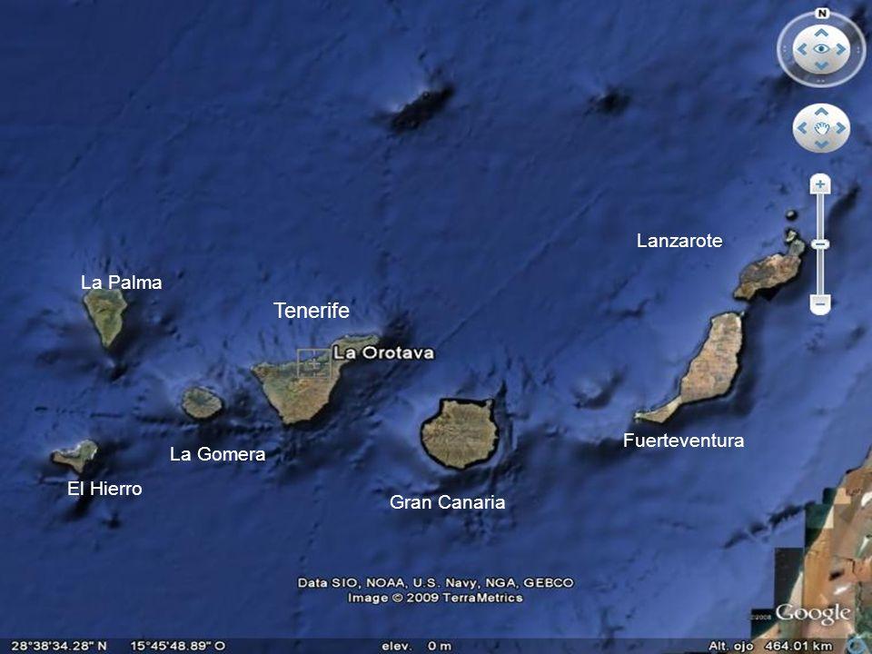 Tenerife Lanzarote La Palma Fuerteventura La Gomera El Hierro