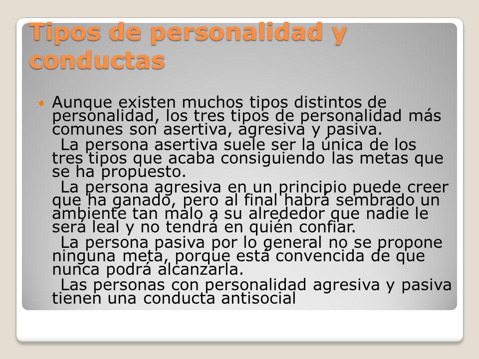 Tipos de personalidad y conductas