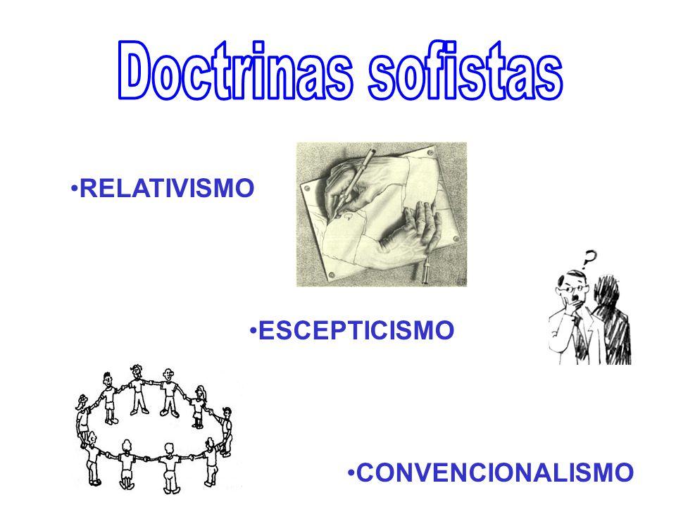 Doctrinas sofistas RELATIVISMO ESCEPTICISMO CONVENCIONALISMO
