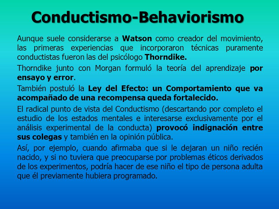 Conductismo-Behaviorismo