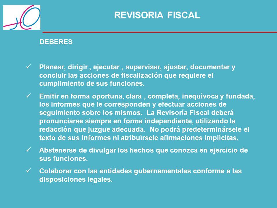 REVISORIA FISCAL DEBERES.