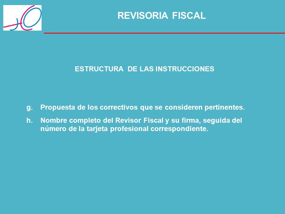 ESTRUCTURA DE LAS INSTRUCCIONES