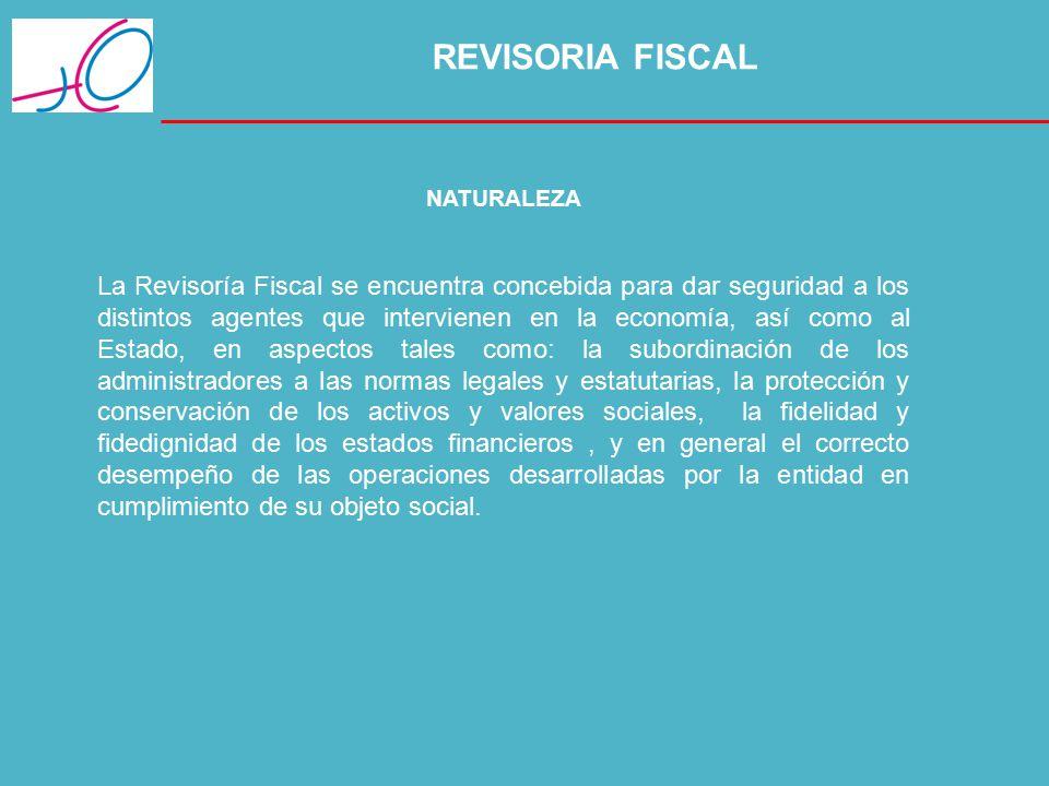 REVISORIA FISCAL NATURALEZA.