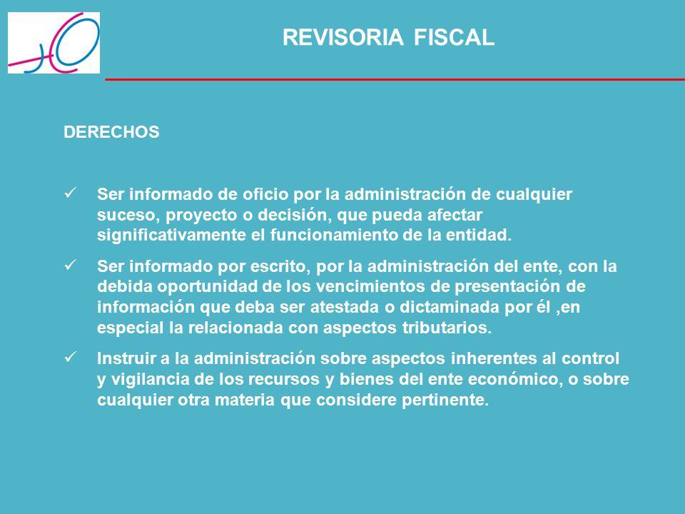 REVISORIA FISCAL DERECHOS