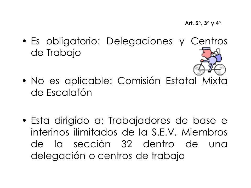 Es obligatorio: Delegaciones y Centros de Trabajo