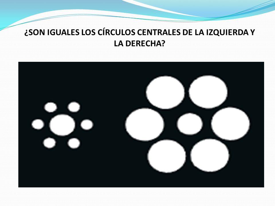 ¿SON IGUALES LOS CÍRCULOS CENTRALES DE LA IZQUIERDA Y LA DERECHA