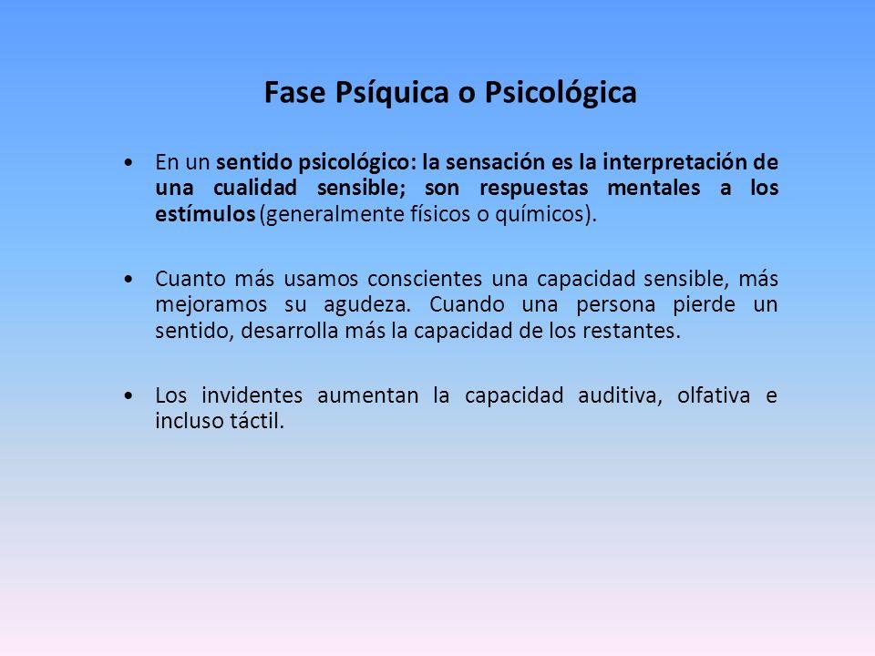 Fase Psíquica o Psicológica