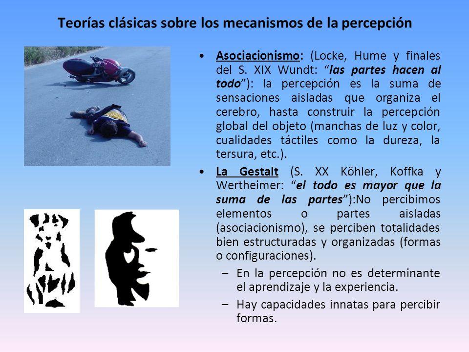 Teorías clásicas sobre los mecanismos de la percepción