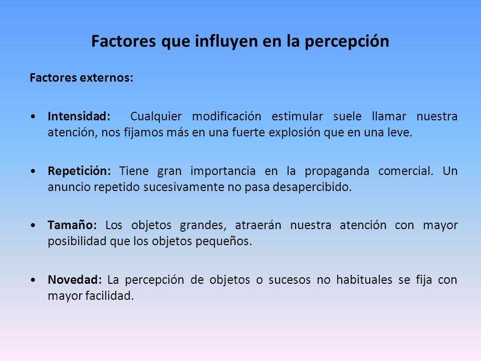Factores que influyen en la percepción