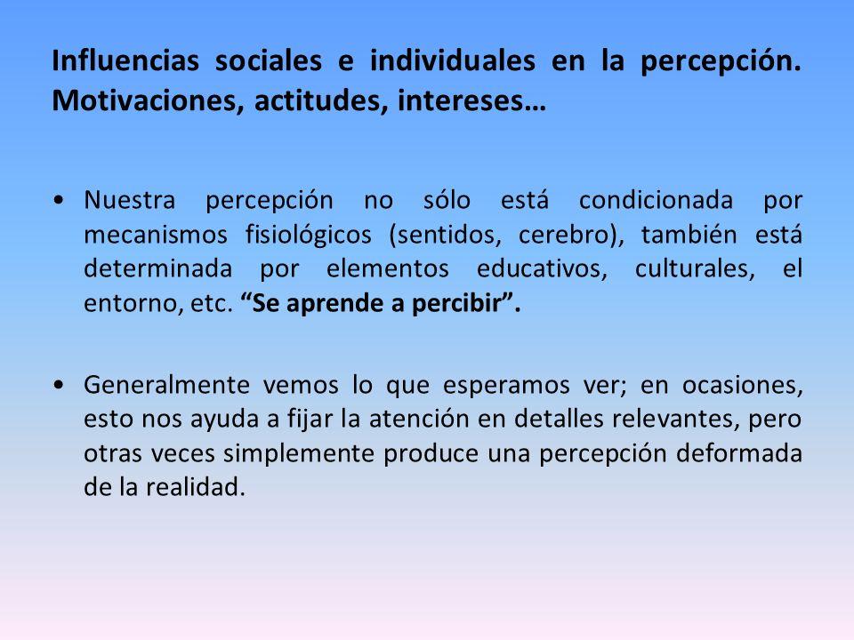 Influencias sociales e individuales en la percepción