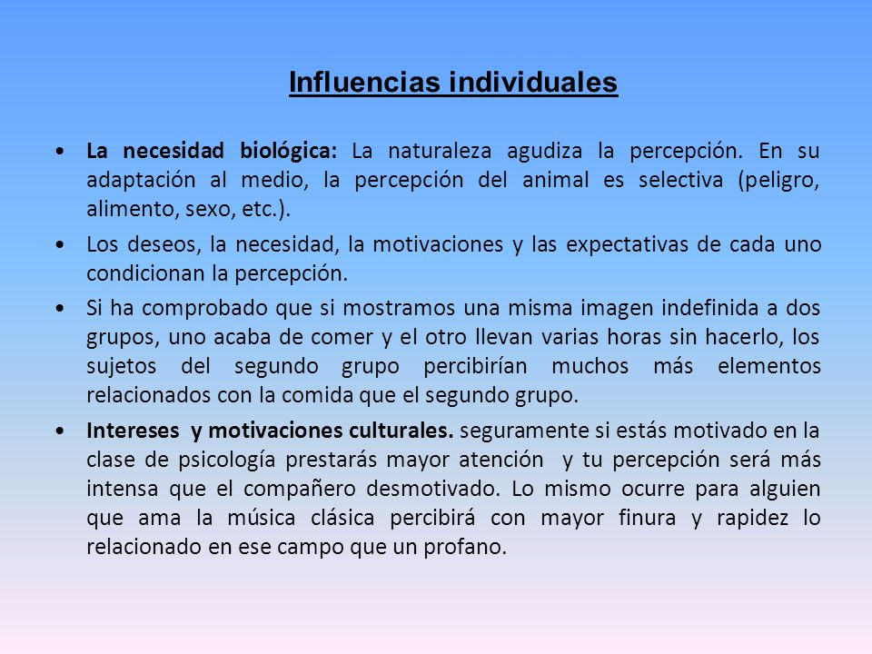 Influencias individuales