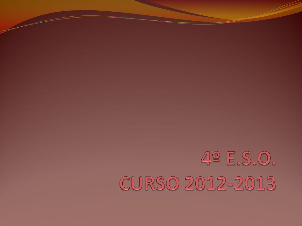 4º E.S.O. CURSO 2012-2013