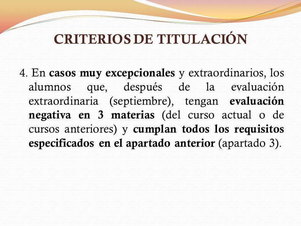 CRITERIOS DE TITULACIÓN