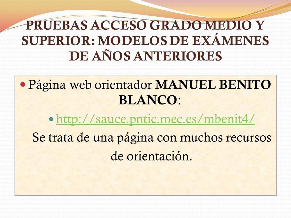 Página web orientador MANUEL BENITO BLANCO: