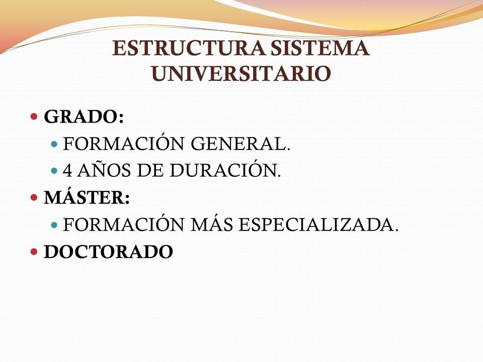 ESTRUCTURA SISTEMA UNIVERSITARIO