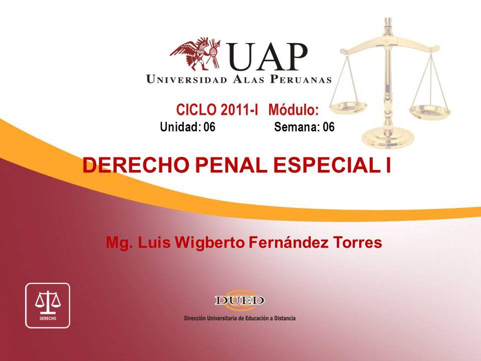 DERECHO PENAL ESPECIAL I Mg. Luis Wigberto Fernández Torres